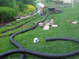 Backyard Drainage Systems advanced irrigation services & creative outdoor lighting | 440-232-6387